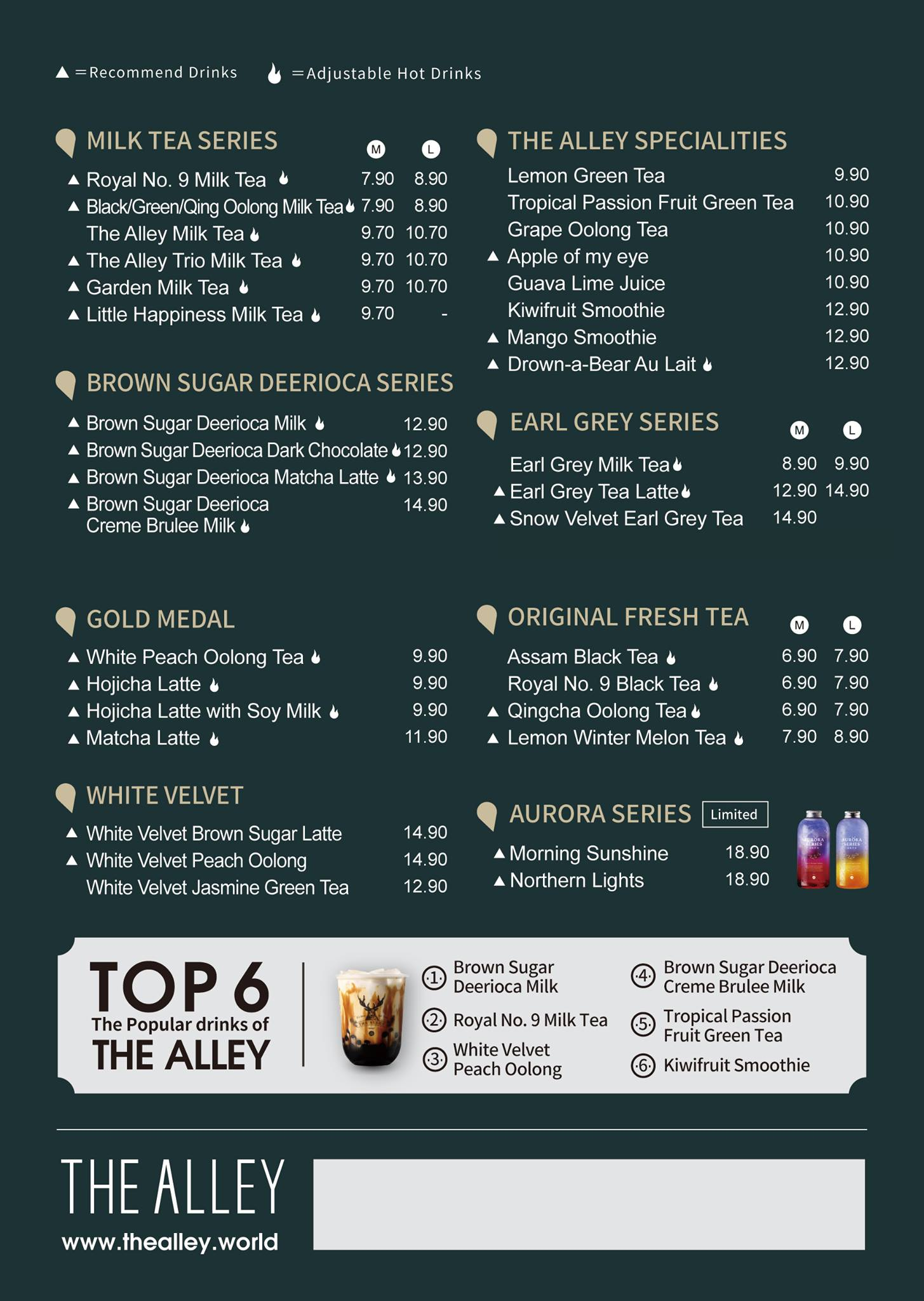 the alley malaysia menu